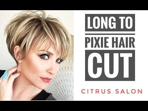 GIRLS LONG TO SHORT PIXIE HAIR CUT MAKEOVER