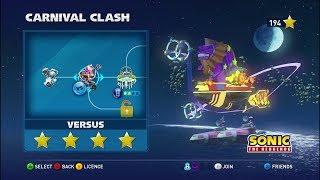 Walkthrough: Sonic & All Stars Racing Transformed - Moonlight Park - Versus - Carnival Clash