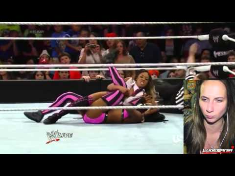 WWE Raw 7/28/14 Naomi Natalya vs Cameron Alicia Fox Live Commentary - lugeyps3  - _Gf4B4tImYM -