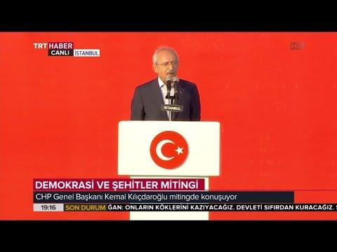 CHP Genel Başkanı Kemal Kılıçdaroğlu'nun Konuşması - Demokrasi ve Şehitler Mitingi - TRT Avaz