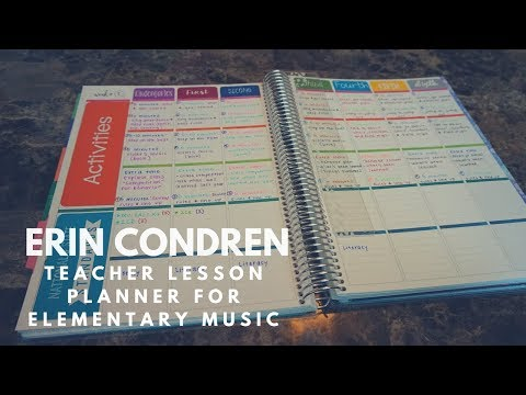 TEACHER HACKS // Erin Condren Teacher Planner for Elementary Music