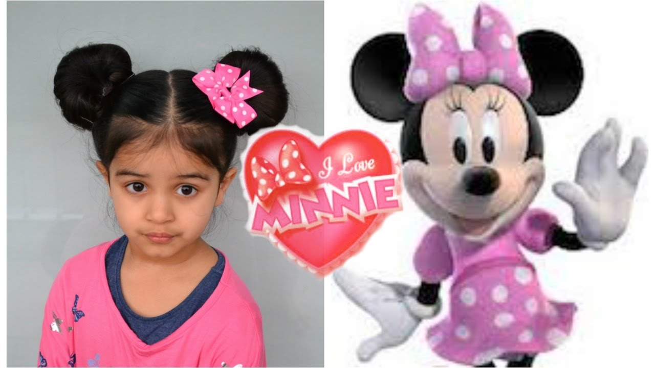 minnie mouse ears hairstyle tutorial | crazy hairstyle # 2 - youtube