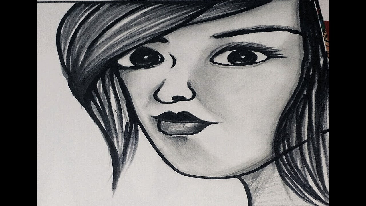 How to draw a pencil work girl face smoking girl pencil drawing how to draw a smoking girl