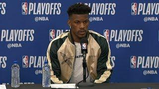 Jimmy Butler Postgame Interview - Game 4 | Raptors vs 76ers | 2019 NBA Playoffs