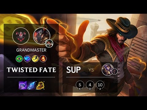 Twisted Fate Support vs Blitzcrank - BR Grandmaster Patch 10.8