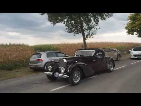Bugatti Type 57 Atalante on the road ! | Festival Bugatti Molsheim 2015 Part 5