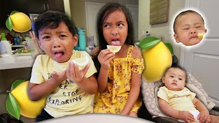 KIDS VS LEMON *WHOEVER MAKES A FACE FIRST LOSES!*