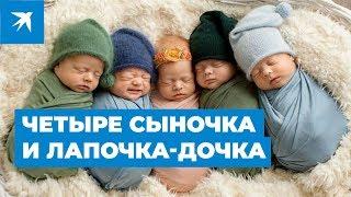 В Приморье родились пятерняшки