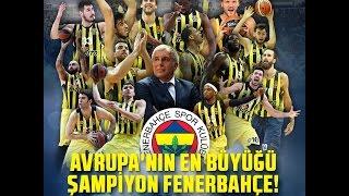 Fenerbahçe 80 Olympiakos 64 ~ Avrupa Şampiyonu - The Boss Of Europe - Kupa Anı