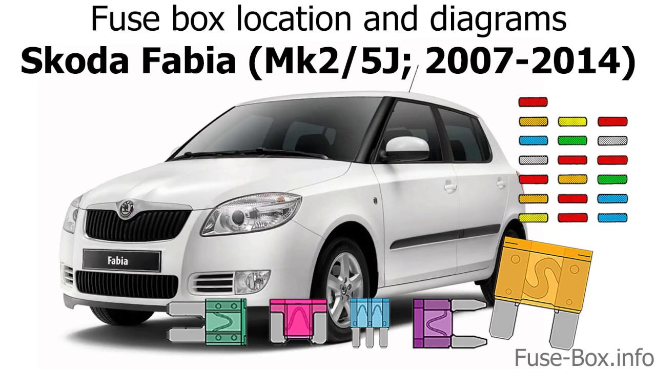 skoda felicia 1999 fuse box diagram fuse box location and diagrams skoda fabia  mk2 5j  2007 2014  skoda fabia  mk2 5j  2007