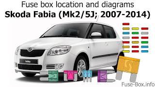 fuse box location and diagrams: skoda fabia (mk2/5j; 2007-2014) - youtube  youtube