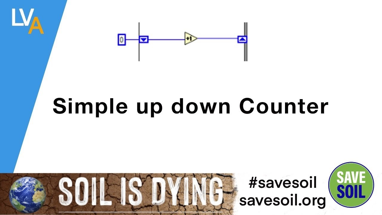 How to make simple Up Down Counter - LabVIEW