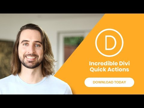 The Incredible New Divi Quick Actions - 동영상