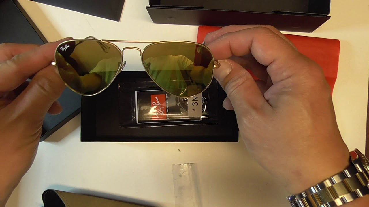 7e59a3fd76590 Unboxing Rayban AVIATOR™ REMIX Part 2 - YouTube