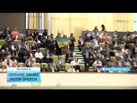EXCLUSIVE VIDEO: Ukrainian delegation walks out of Putin's UN Assembly speech