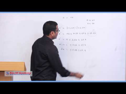 Errors - IIT JEE Main & Advanced Physics Video Lecture [RAO IIT ACADEMY]