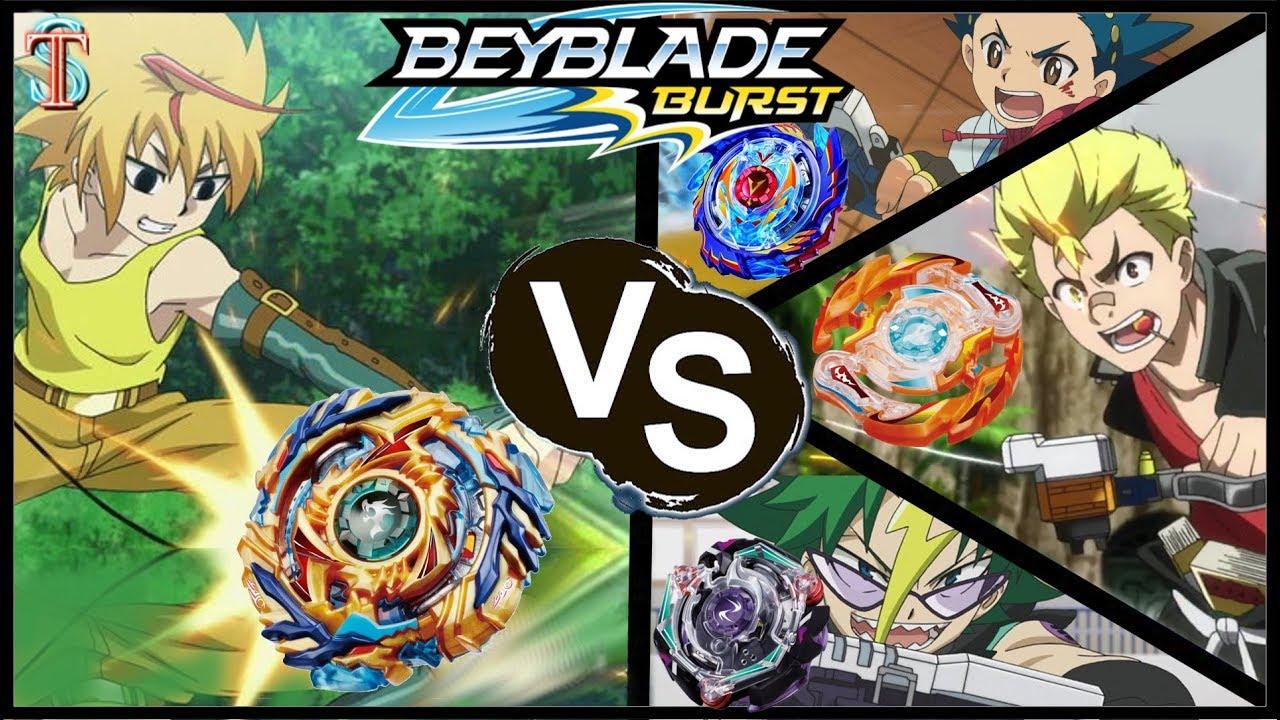 Бейблэйд БИТВА Фафнир Ф3 VS Волтраек В3, Роктавор Р3 и Сетомб С3 | Beyblade Burst Evolution 2 сезон