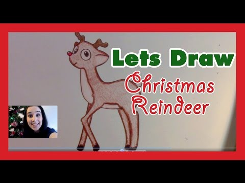 How to Draw a Christmas Reindeer Cute Rudolph in Pencil - Artist Rage