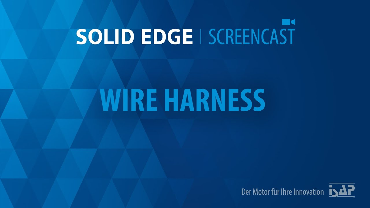 let´s work solid edge wire harness youtube Edge Wire Harness let´s work solid edge wire harness edge wiring harness