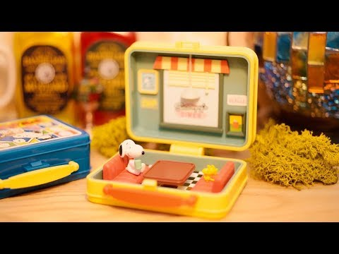 Re-Ment Miniature Toy. Snoopy's lunchbox museum |Stop motion animation/ASMR
