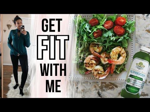 GET FIT WITH ME | Healthy Dinner Recipe + Workout Plan