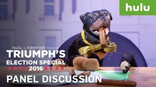 Triumph the Insult Comic Dog Hangs Out With Alan Dershowitz and The Dell Dude • Triumph on Hulu