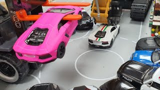 Gambar cover Police Car Toys Chase Pink Lamborghini Toy Car l Construction Trucks for Children  l Videos for Kids