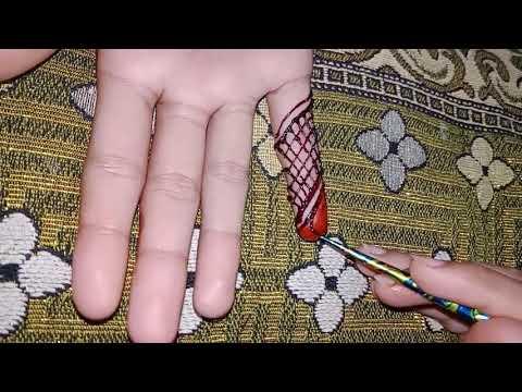 Top class and easy finger mahndi design tutorial thumbnail
