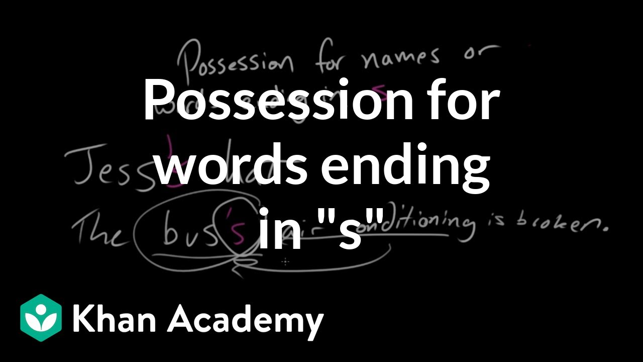 "Possession for words ending in ""s"" (video) 