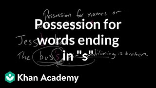 "Possession for words ending in ""s"" 