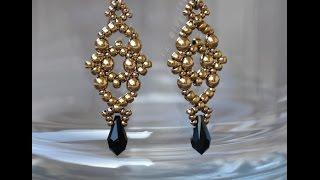 Sidonia's handmade jewelry - Losange earrings - beading tutorial