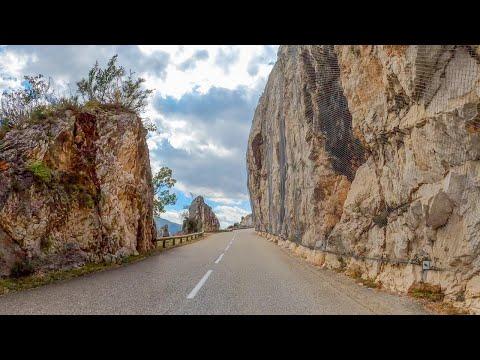 Driving through Parc naturel régional des Préalpes d'Azur, France