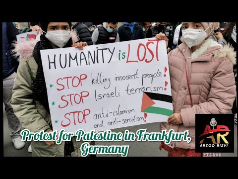 protest for Palestine in Frankfurt, Germany, |Arzoo Rizvi|