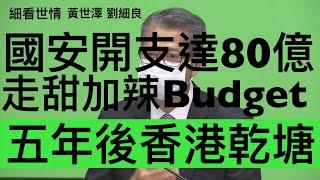 國安開支達80億 走甜加辣Budget 五年後香港乾塘 - 24/02/21 「細看世情」長版本