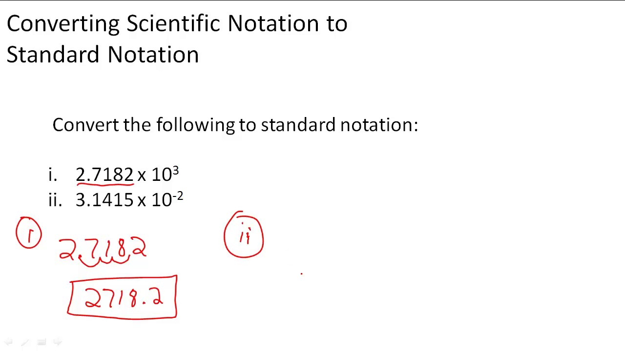 Converting scientific notation to standard notation youtube converting scientific notation to standard notation falaconquin