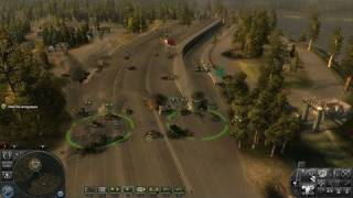 World in Conflict PC Games Gameplay - Defending the Bridge
