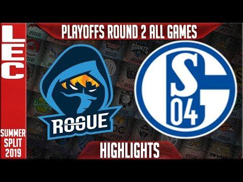 RGE vs S04 Highlights ALL GAMES | LEC Summeer 2019 Playoffs Quarterfinals | Rogue vs Schalke 04