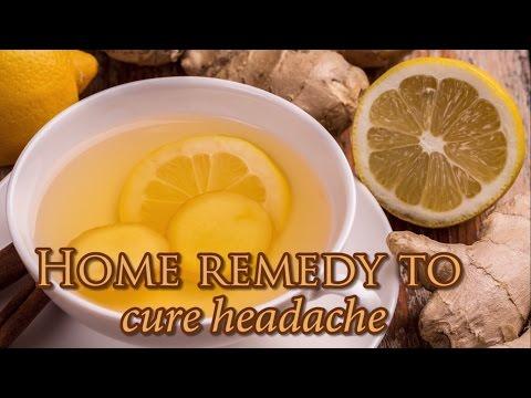 Lemon Ginger juice to cure headache