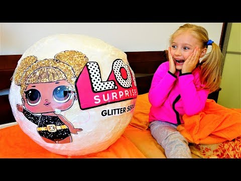 LOL Surprise Doll Giant Ball Glitter Series Unboxing