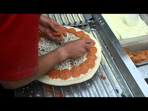 Papa John's Pepperoni Pizza Making Process