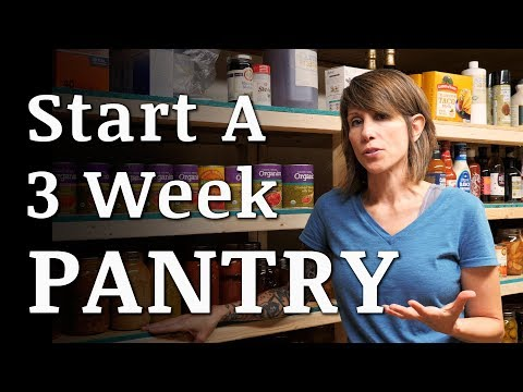 Start a 3 WEEK Prepper Food Pantry