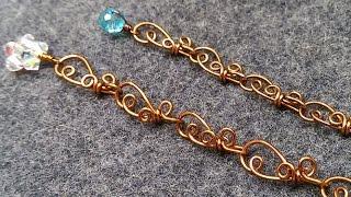 copper whales bracelets  - wire wrap jewelry making 29