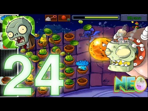 Plants Vs. Zombies: Gameplay Walkthrough Part 24 - Final Boss! (iOS Android)