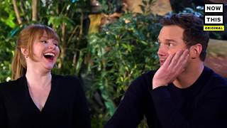 'Dinosaur Trivia' with Bryce Dallas Howard and Chris Pratt (June 2018) — NowThis