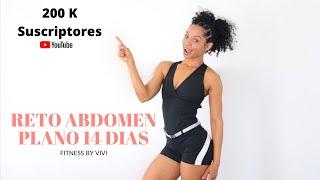 RETO ABDOMEN PLANO 14 DIAS | Celebrando 200 k on Youtube | fitness by Vivi