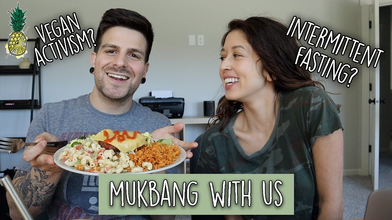 Eating Leftovers + Answering Your Questions   Mukbang