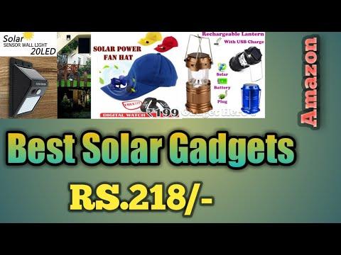 3 Best and Cheapest Solar Gadgets 2020 | Wall Light | Solar Fan Cap(Suncap) | Rechargable Latern