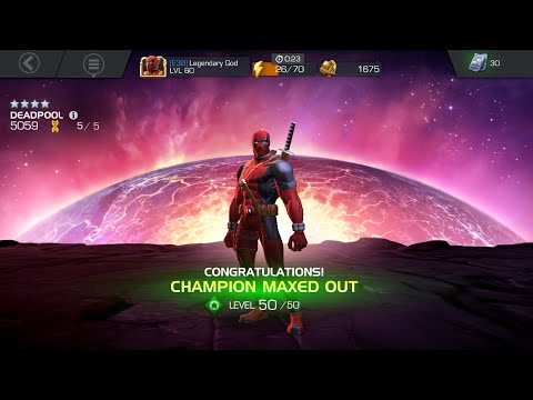 First Maxed Four Star! Deadpool to Rank 5/50 - Marvel Contest of Champions