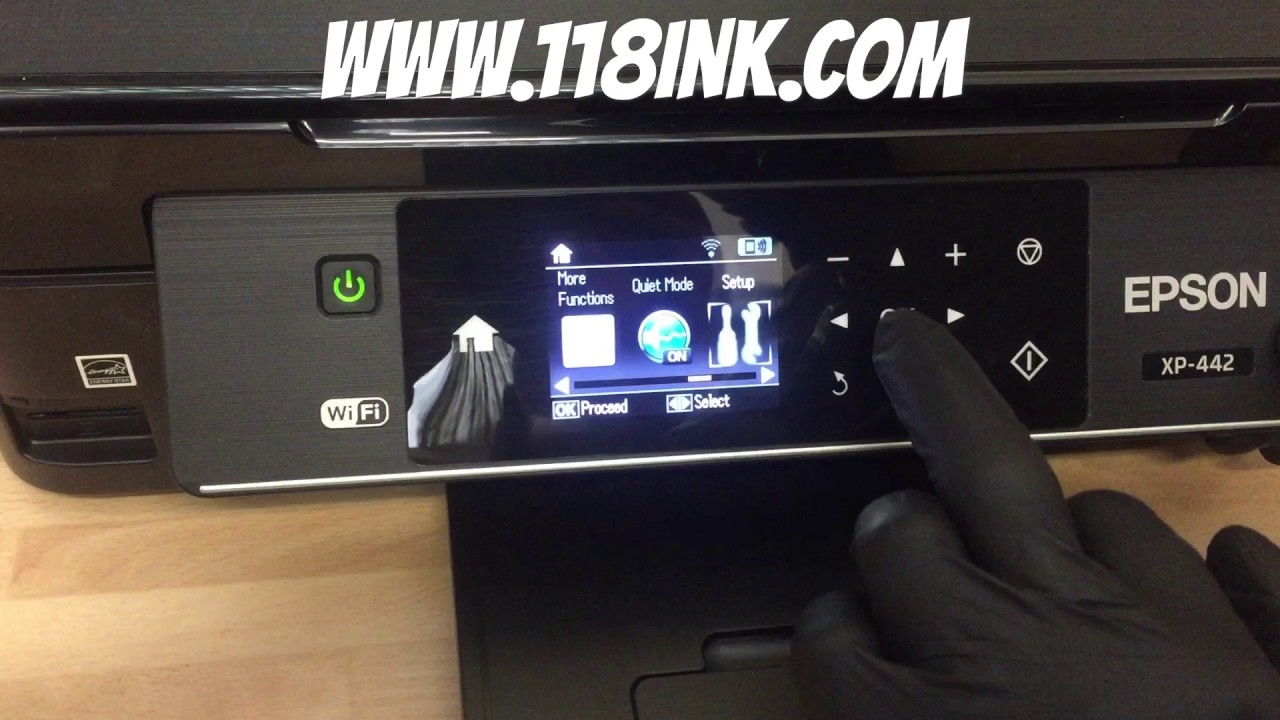 How to run a head clean on a blocked Epson xp-422 printer that's not  printing