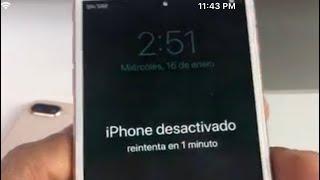 Mi iPhone dice que esta desactivado conectarse a iTunes thumbnail